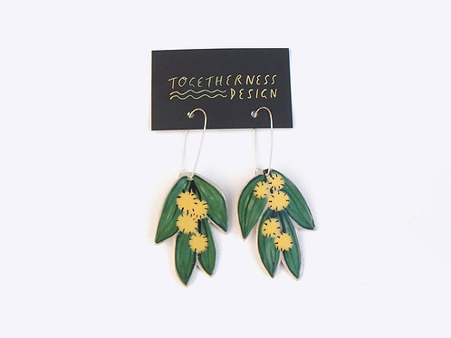 Ceramics Earrings: Wattle