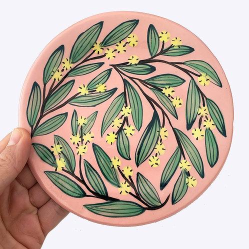Large Ceramic Dish: Wattle