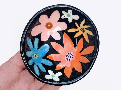 Small Ceramic Bowl: Flower Power