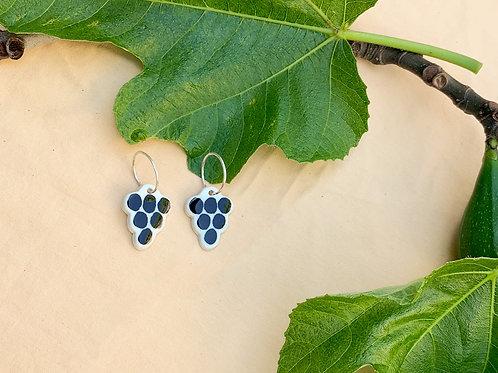 Ceramic Mini Hoops: Mini Grapes