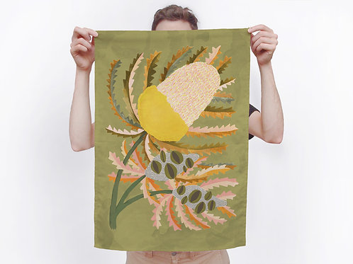 Banksia Bloom Tea Towel