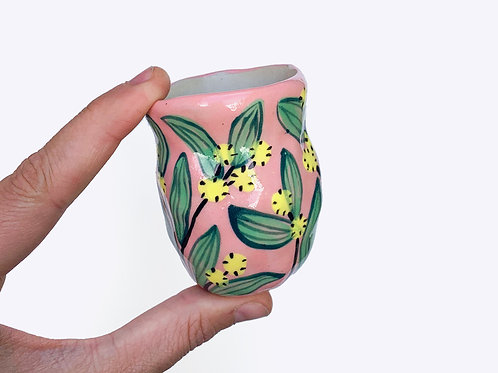 Ceramic Bud Vase: Wattle
