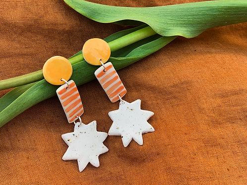 North Star Ceramic Drop Earrings