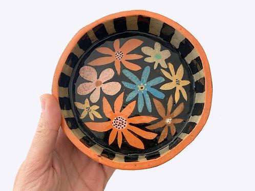 Ceramic Pet Bowl: Large Flower Power