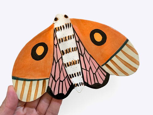 Ceramic Wallhanging: Midnight Moth