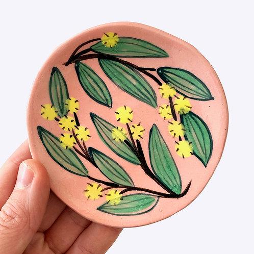 Small Ceramic Dish: Wattle