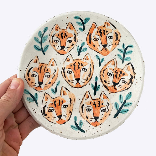 Large Ceramic Dish: Tiger