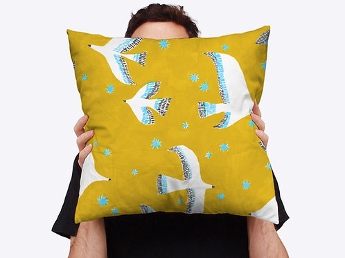 Flock Throw Cushion
