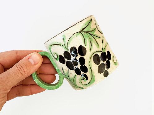Ceramic Mug: Grape Garden
