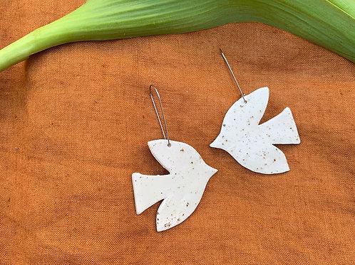 Ceramic Flocking Birds Earrings