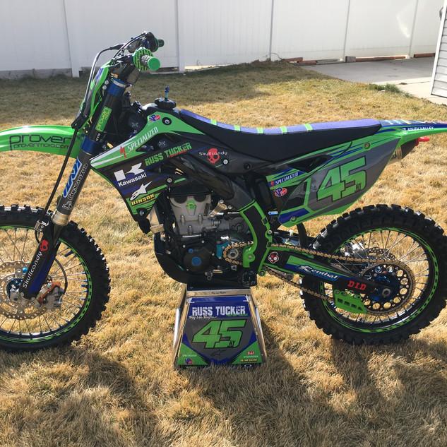 Kawasaki KX450F Tucker Racing Team Decal