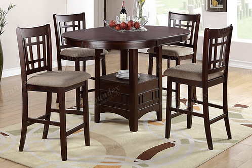 OVAL 5PCS. COUNTER HEIGHT DINING SET