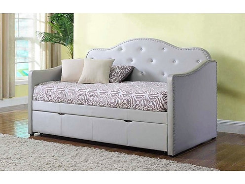 PEARLESCENT GRAY TWIN DAYBED