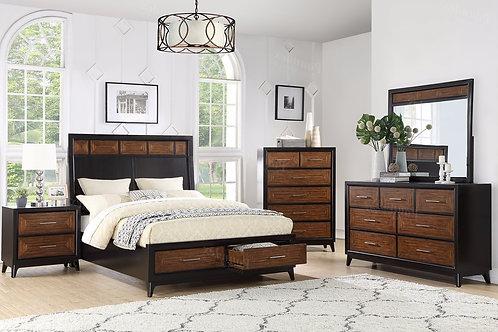 TROY  DARK ESPRESSO FINISH BEDROOM SET