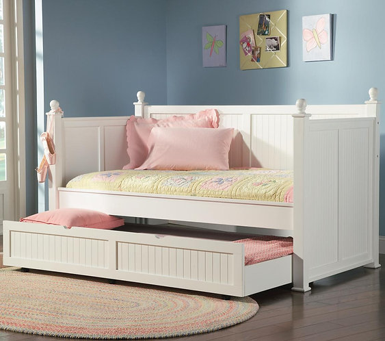 WHITE COLLECTION TWIN DAYBED