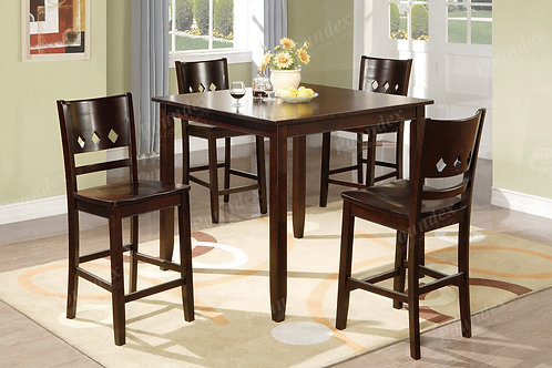 DIAMOND  II 5PCS. PACK COUNTER HEGHT DINING SET