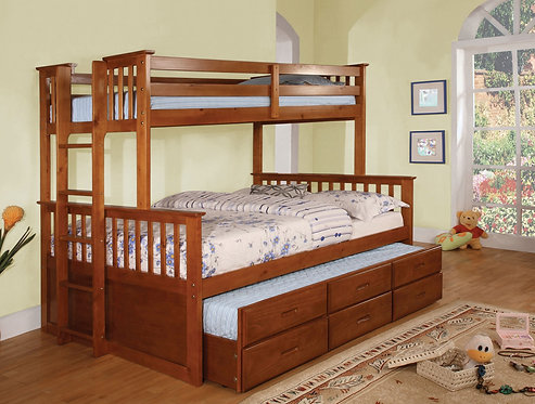UNIVERSITY TWIN OVER FULL WOOD BUNK BED