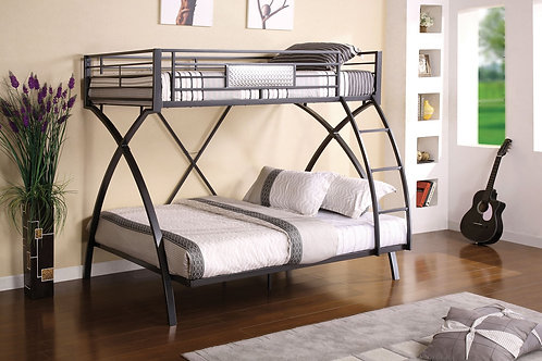 APOLLO TWIN OVER FULL METAL BUNK BED