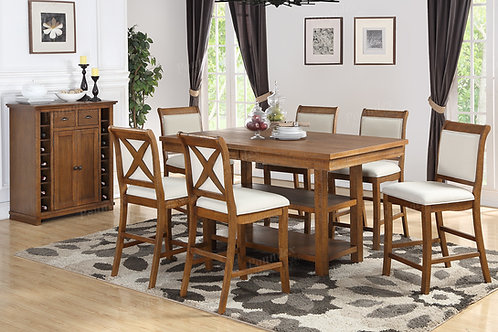 MARIANN 7PCS. COUNTER HEIGHT DINING SET