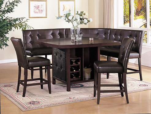 BRAVO 6PCS. COUNTER HEIGHT DINING SET