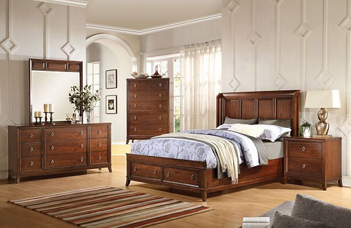 MIDWAY CHERRY FINISH BEDROOM SET