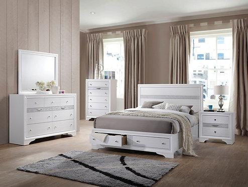 NAIMA WHITEN FINISH BEDROOM SET