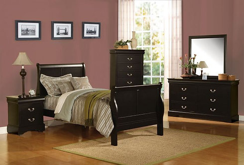 LOUIS PHILIPPE III 4PCS TWIN BEDROOM SET