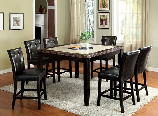 BELLEVIEW II 7PCS. COUNTER HEIGHT DINING SET