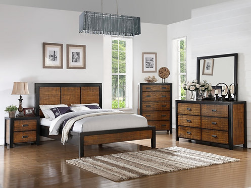 TROYE BAMBOO FINISH BEDROOM SET