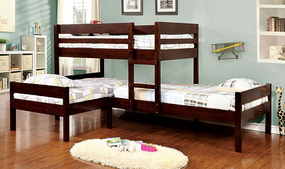 RANFORD TRIPLE WOOD BUNK BED WITH OPTIONAL UNDER TRUNDLE
