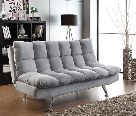 LIGHT GREY FUTON SOFA BED