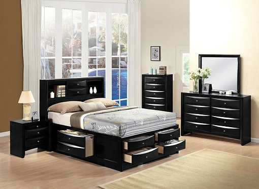 IRELAND BLACK FINISH BEDROOM SET