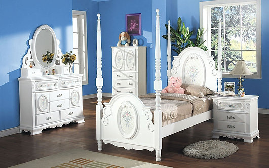 FLORA II COLLECTION 4PCS BEDROOM SET