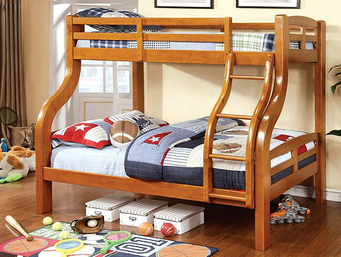 SOLPINE TWIN OVER FULL WOOD BUNK BED