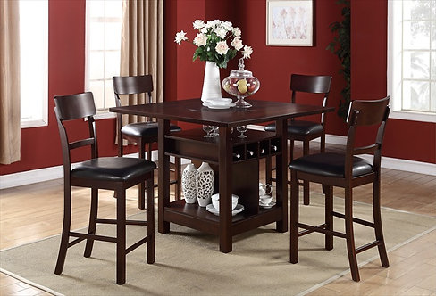 NIGUEL III 5PCS. COUNTER HEIGHT DINING SET