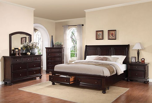 GRAYSON DARK WALNUT FINISH BEDROOM SET