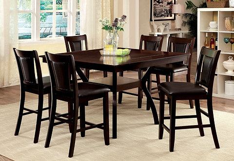 BRENT II 7PCS. COUNTER HEIGHT DINING SET