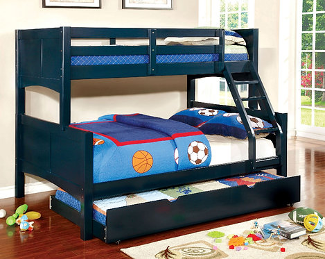 BLUE PRISMO II TWIN OVER FULL WOOD BUNK BED