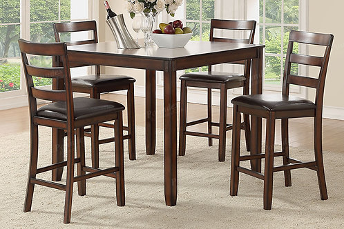 GARRET 5PCS. PACK COUNTER HEIGHT DINING SET