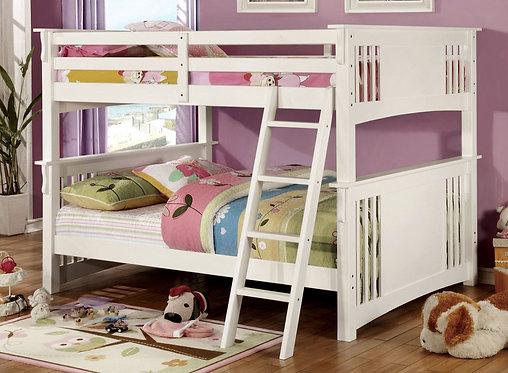 SPRING CREEK WHITE FULL/FULL WOOD BUNK BED