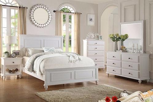 CROW II WHITE WOOD FINISH BEDROOM SET
