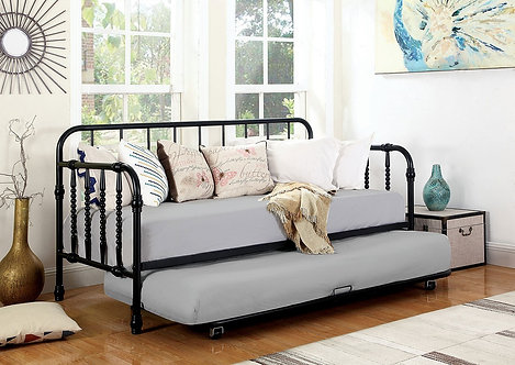 THOMAS BLACK TWIN METAL DAYBED