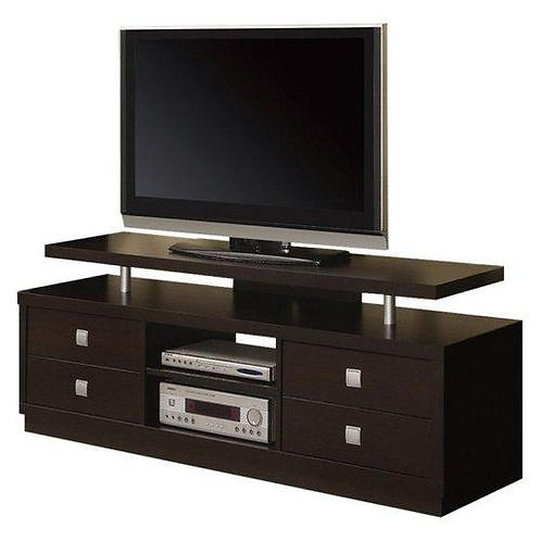 "60"" TV Stand in Cappuccino / Silver"