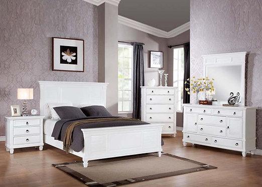 MERIVALE WHITE FINISH BEDROOM SET