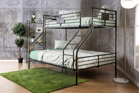 OLGA I TWIN XL / QUEEN METAL BUNK BED