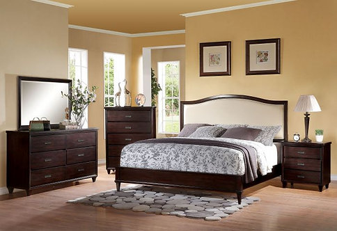 RALEIGH CHERRY FINISH BEDROOM SET