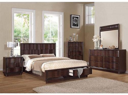 TRAVELL WALNUT FINISH BEDROOM SET