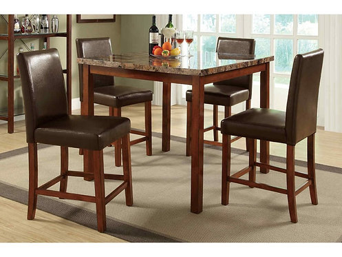 FERRER FAUX MARBLE 5PCS. PACK COUNTER DINING SET