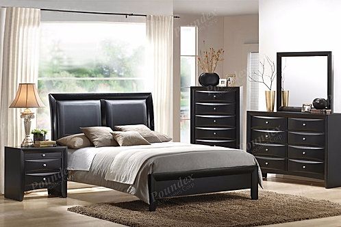 BLACK FINISH BEDROOM SET