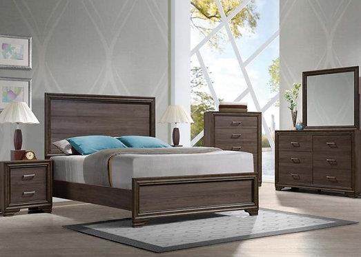 CYRILLE WALNUT FINISH BEDROOM SET